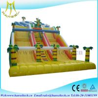 Hansel attractive kids amusement park games inflatable climbing wall with slide Manufactures