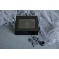 Wholesale Pine Wooden Photo Album Box Black Color With Lacquer For Usb Driver from china suppliers