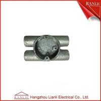 China Twin Through H Way Conduit Junction Box Steel Conduit Fittings / Hot Dip Galvanized on sale