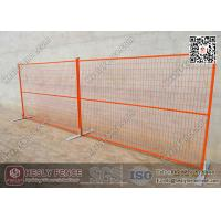 Buy cheap Orange Color Temporary Construction Fence Panels 6ft X 8ft HeslyFence from wholesalers
