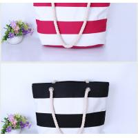 Buy cheap custom natural cotton canvas beach bag with rope handles canvas tote bags factory from wholesalers