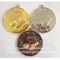 Buy cheap Embossed metal soccer medals, China medal manufacturer for custom sports medals cheap from wholesalers