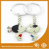 Wholesale Boy Girl Lover Custom Metal Keychains Engraved Metal Keyrings from china suppliers
