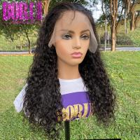 Buy cheap Wholesale High Quality Water Wave Human Hair Lace Frontal Wigs For Black Women from wholesalers