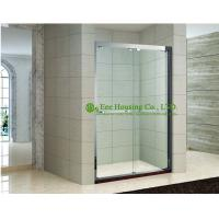 Buy cheap Shower room In-line two sliding shower cabin,hanging rollers shower door,Stainless Steel Glass shower units sale from wholesalers