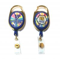 Buy cheap Epoxy Logo Dome Oval Custom Retractable Badge Reels , Badge Reel Clips from wholesalers