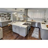 Buy cheap White Quartz Countertops With Aqua And Brown Flecks kitchen countertops from wholesalers