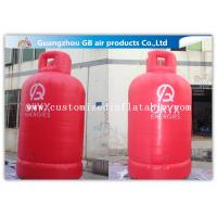 Buy cheap Large Gas Cylinder Red Inflatable Advertising Signs 4mH Commercial Display from wholesalers