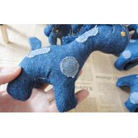 "6"" Pony children Stuffed homemade unique denim toys gifts for home decoration Manufactures"