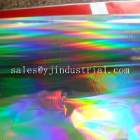Buy cheap custom seamless rainbow pattern PET holographic cold lamiantion film of manufacter from wholesalers