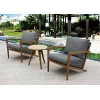 Buy cheap Small Balcony Furniture Aluminum Outdoor Furniture Set with Teak Wood Table from wholesalers