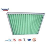 China Green Synthetic Fiber Fiberglass Air Filters G3,G4 Primary Efficiency on sale