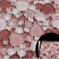 Buy cheap Heart-shape Crystal Mosaic, 4 or 8mm Thickness,White and Red from wholesalers