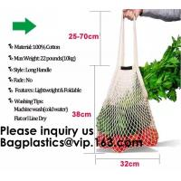 Buy cheap Factory Supplier Cotton Mesh Shopping Net Bag Logo Multi Colors Black White Red Green Blue Handled Shopping Bags Net from wholesalers