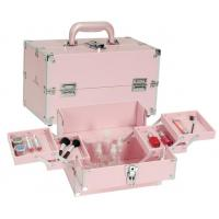 Wholesale Female Beauty Travel Aluminium Makeup Case , PVC Pink Makeup Artist Organizer from china suppliers