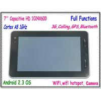Buy cheap Full Functions Cortex A8 1GHz 7 Inch Android 2.3 Built in 3G Tablet PC Calling WiFi WiFi Hotspot GPS Bluetoth Camera etc. from wholesalers