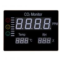 Buy cheap Digital Wall Mount Indoor Air Quality Temperature Humidity RH 9999 PPM Carbon Dioxide CO2 Monitor Digital Meter Sensor from wholesalers