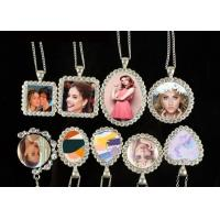 Buy cheap Sublimation Blank Pendant Necklace With Chain And Diamond For Lady from wholesalers
