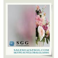 China Acid etched glass 3mm-19mm on sale