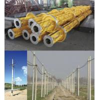 Buy cheap Yellow Electric Prestressed Concrete Poles , Precast Concrete Pole ISO from wholesalers