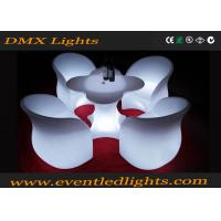 Lighting multi colors Led Light Chair , rechargeable bar chair with light Manufactures