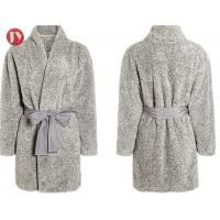 Buy cheap Lady'S Knee - Length Sherpa Plush Bathrobe Soft And Warm Spa Robe Tumble Dry Durable from wholesalers