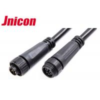 Wholesale 300V 10A Waterproof Cable Connector Male Female Over Molding With Screw Locking from china suppliers