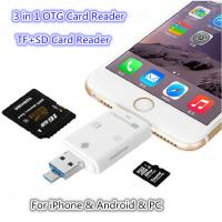 Buy cheap 3 in 1 i-Flash-Drive HD USB 3.0 Micro SD SDHC TF OTG Card Reader OTG Adapter for iPhone 5s 6 6s Android Cellphone PC from wholesalers