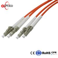Buy cheap Orange Fiber Optic Cable Patch Cord OM1 Duplex 3.0mm For Local Area Network from wholesalers