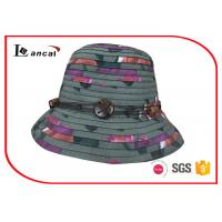 Buy cheap Multi Color Wide Brim Sun Hat , Superposed Style Ladies Straw Hats from wholesalers