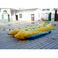 Buy cheap PVC Tube Banana Inflatable Fly Fishing Boats 16 Persons Double Pulled Motorboat from wholesalers