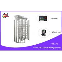 Buy cheap Rotary Durable Flexible single turnstile Full Height with Fingerprint or QR Code Scan from wholesalers