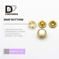 Buy cheap Gold Color Small Bulk Clothing Buttons Pearl Snap Fasteners Nickel Free from wholesalers