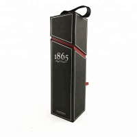 Buy cheap Foldable Soft Touch Lamination PU Leather Wine Box from wholesalers