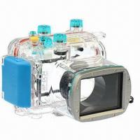 Wholesale 40M/130ft Waterproof Underwater Case/Camera Housing, Ideal for Diving, Canon G11/G12/WP-DC34 from china suppliers