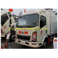 Buy cheap HOWO small refrigerated box trucks 4X2 for fresh food transport from wholesalers