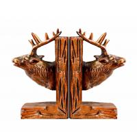 China Deer Reindeer Stag Home Decor Bookends Red Brown For Library Study Room on sale