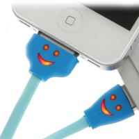 Smile face lighting Micro USB/I5/I5/IPad cable, RoHS. UL certificate Manufactures