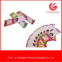 Buy cheap Reclosable Food Grade Packaging Self Sealed Plastic Bag For Sugar / Snacks from wholesalers