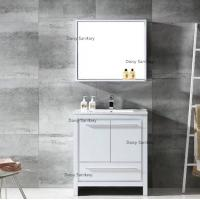 Buy cheap Eco Wooden Marble Top Bathroom Vanity Saving Space For Washing / Make Up from wholesalers
