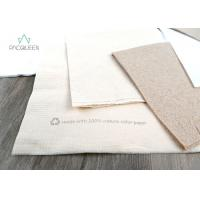 Wholesale Eco Friendly Disposable Tableware Eco Brown Kraft / White Napkins Offset Printing from china suppliers