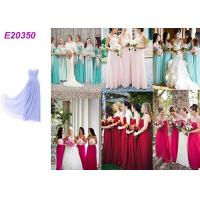 Buy cheap Long Chiffon Wedding Bridesmaid Dresses For Guest Wedding Party Multi Color Optional from wholesalers
