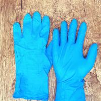 Wholesale Blue  3.0g/3.5g/4.0g/4.5g/5.0g texfured finger Disposable Nitrile Gloves XS, S,M,L,XL,XXL for non-medical use from china suppliers