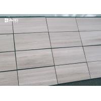 Wholesale Grey Wood Grain Color Marble Stone Tile For Interior Wall Cladding High Hardness from china suppliers