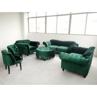 Buy cheap Nordic Style Modular Home Furniture Tufted Velvet Fabric Chesterfield Sofa Set from wholesalers