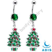 Buy cheap 316L Stainless Steel Dangle Belly Ring For Christmas Ring / Party Ring from wholesalers