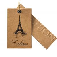 Buy cheap custom recycled kraft paper hang swing tags boutique hang tags for sale manufacturer from wholesalers