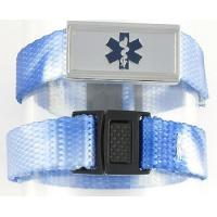 Buy cheap Personalized Black Leather and Stainless Medical ID Alert Bracelet from wholesalers