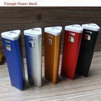 Buy cheap 2600mAh Triangle Shape Aluminum Wholesale Portable Power Bank, Custom Logo Phone Charger from wholesalers