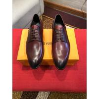 Buy cheap Louis Vuitton 2019 Men's Wine Red Leather Dress Business Shoes from wholesalers